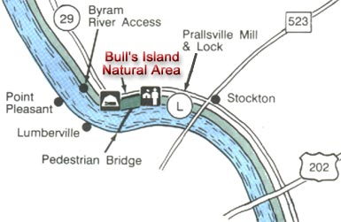 Bull Isle trail map